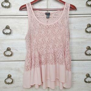Torrid sleeveless lace babydoll style blouse